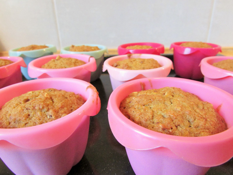 bezglutenowe muffinki z dynią i orzechami