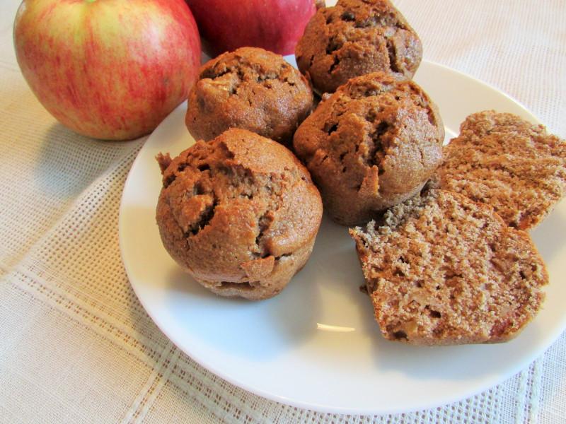 łatwe muffinki z jabłkiem bez cukru