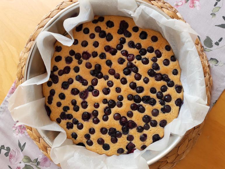 ciasto bezglutenowe z borówkami